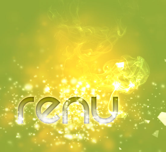 Renu smoke Create A Cool Typography Effect in Photoshop