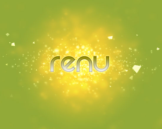 Renu text Create A Cool Typography Effect in Photoshop