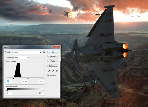 ultimate warfare 20 Create a Cinematic Aerial Scene in Photoshop