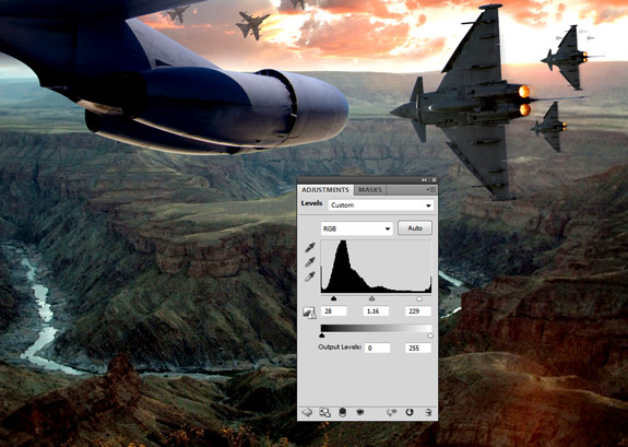 ultimate warfare 28 Create a Cinematic Aerial Scene in Photoshop