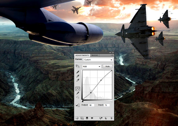 ultimate warfare 29 Create a Cinematic Aerial Scene in Photoshop