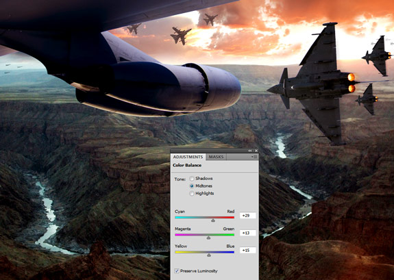 ultimate warfare 30 Create a Cinematic Aerial Scene in Photoshop