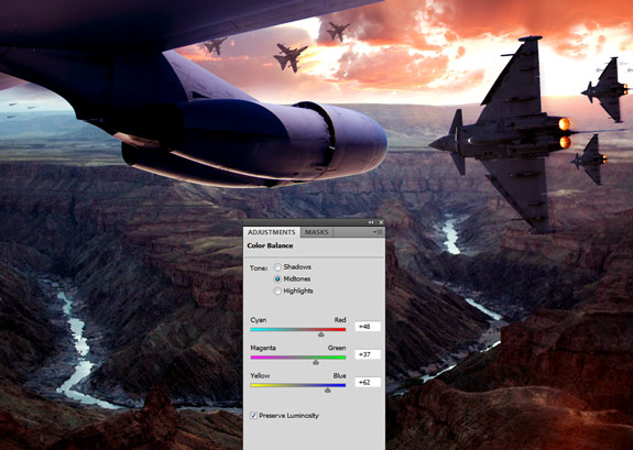 ultimate warfare 31 Create a Cinematic Aerial Scene in Photoshop