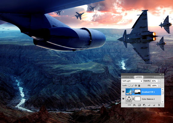 ultimate warfare 34 Create a Cinematic Aerial Scene in Photoshop