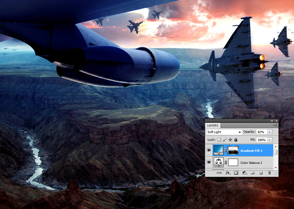ultimate warfare 35 Create a Cinematic Aerial Scene in Photoshop