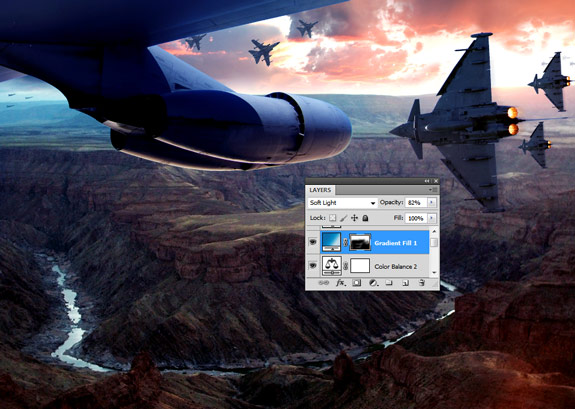 ultimate warfare 37 Create a Cinematic Aerial Scene in Photoshop