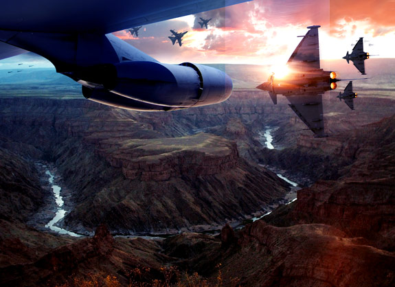 ultimate warfare 39 Create a Cinematic Aerial Scene in Photoshop