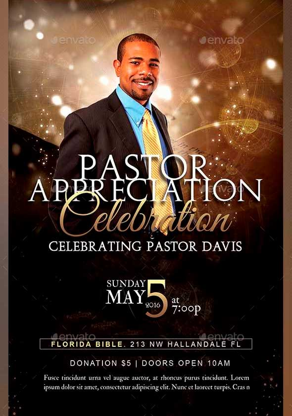 Pastor Appreciation Flyer Templates | Graphicmule