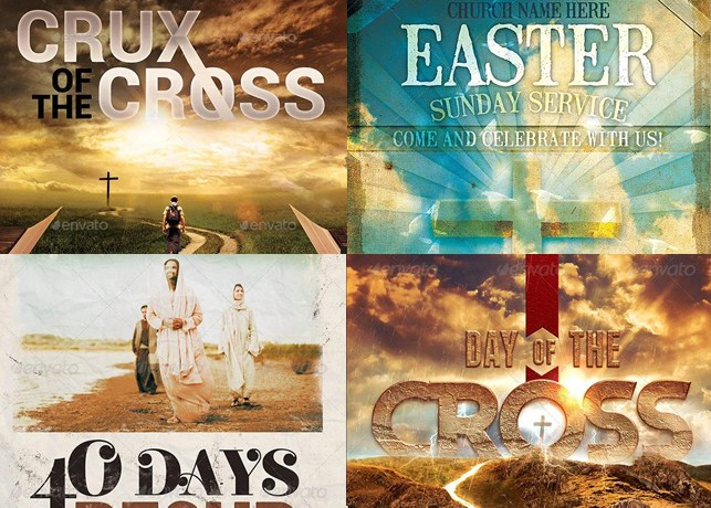 Easter Flyer Templates For Churches  Inspiks Market
