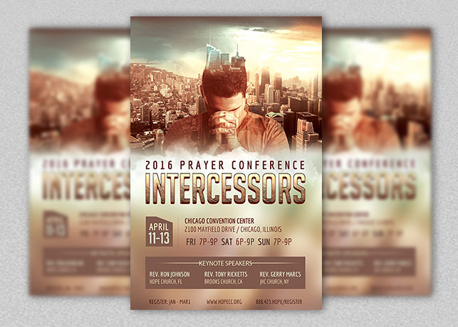 prayer conference flyer poster template | inspiks market, Powerpoint templates