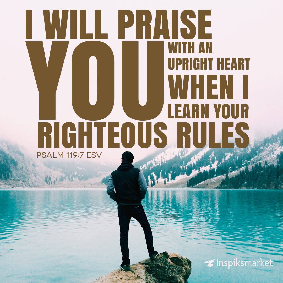 I will praise You with uprightness of heart | Inspiks Market