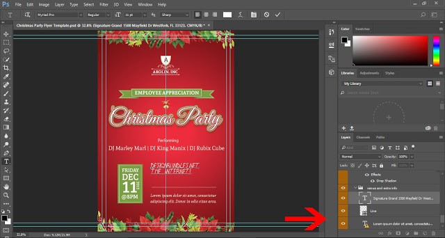 Edit templates in Photoshop