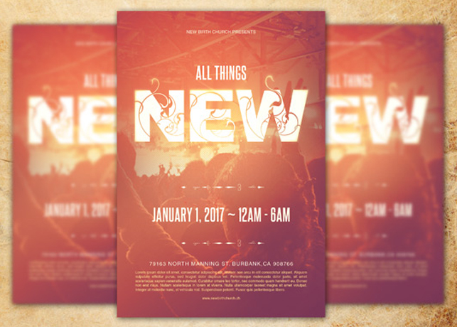 church anniversary flyer templates free .