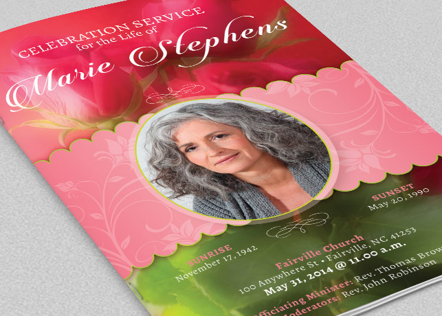 Decorative Funeral Program Template – Download Funeral Program Template