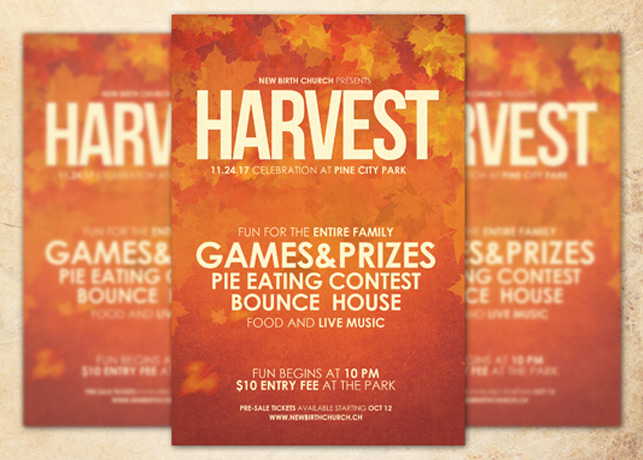 Harvest Celebration Church Flyer Template Inspiks Market