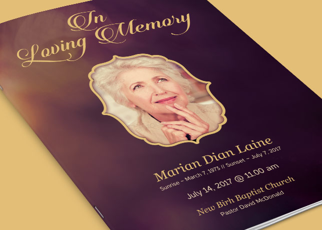 in memory cards templates - in loving memory funeral program template inspiks market