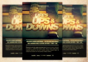 Life's Ups and Downs Church Flyer Template