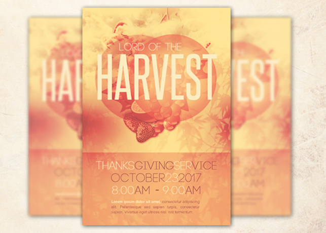 lord of the harvest church flyer template