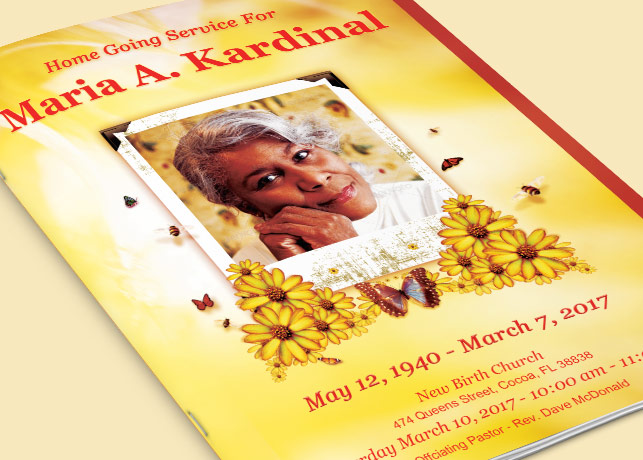 Light of Life Funeral Program Template – Download Funeral Program Templates