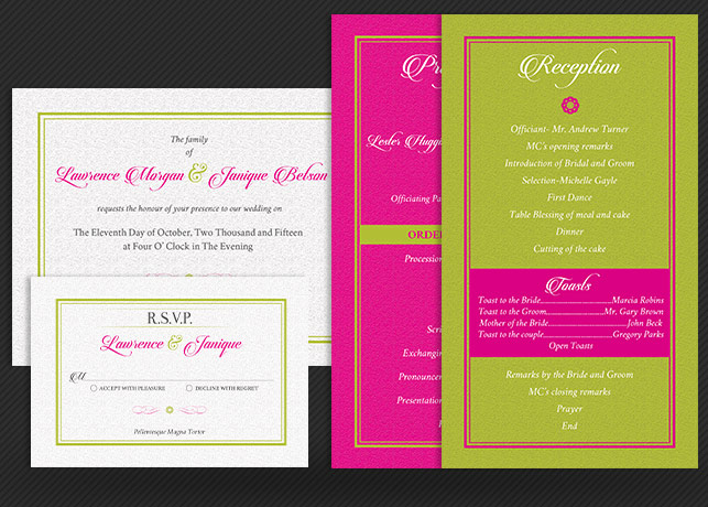 tropical wedding invitation template wedding package