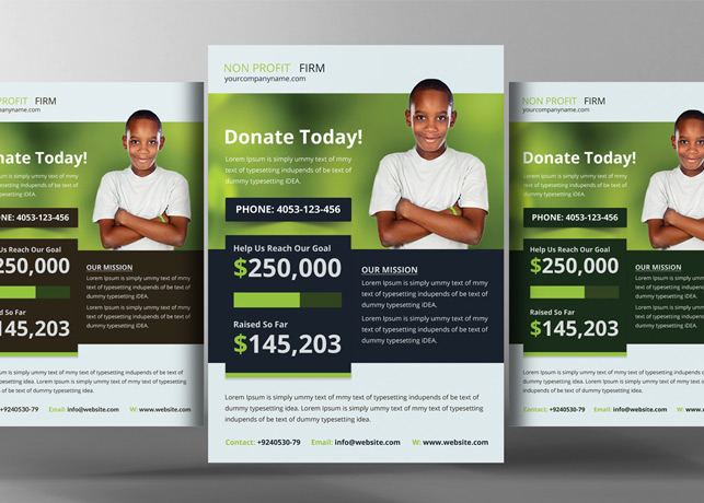 Beautiful Church Charity Donation Flyer Template  Donation Flyer Template