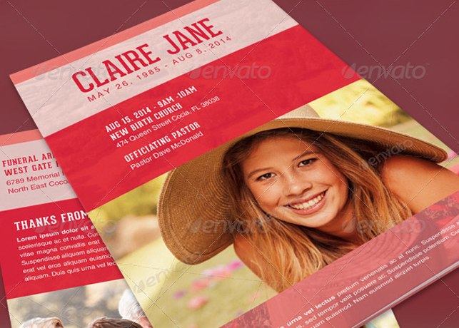 Bloom Of Life Funeral Program Template | Inspiks Market