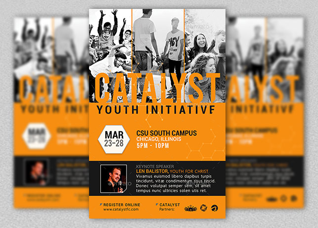 Catalyst Youth Summit Flyer Template | Inspiks Market