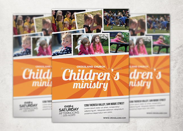 Childrens Ministry Church Flyer Template Inspiks Market
