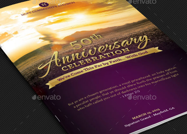 Church anniversary service program template inspiks market church anniversary service program template thecheapjerseys Gallery