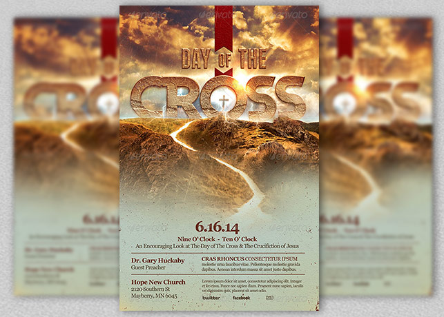 Cross Day Church Flyer Template  Inspiks Market