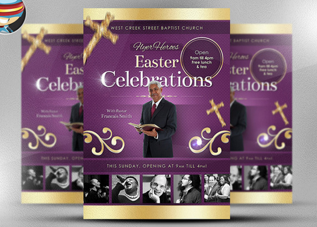 Easter Celebrations Church Flyer Template Inspiks Market