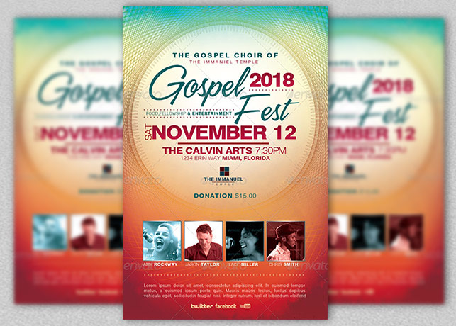Gospel Fest Church Flyer Template  Inspiks Market