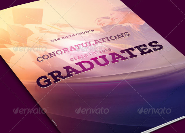 Graduates Celebration Church Program Template  Inspiks Market