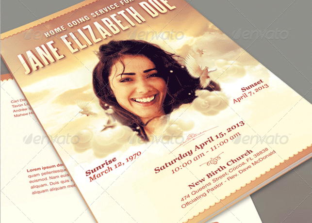 Funeral Program Template Archives – Funeral Flyer Template