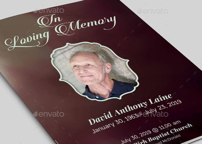 In loving memory funeral program template inspiks market for In loving memory templates