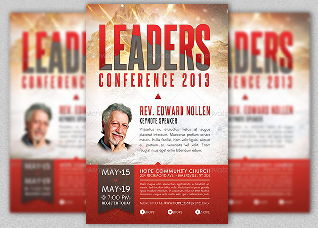 Leadership Conference Church Flyer Template – Conference Flyer Template
