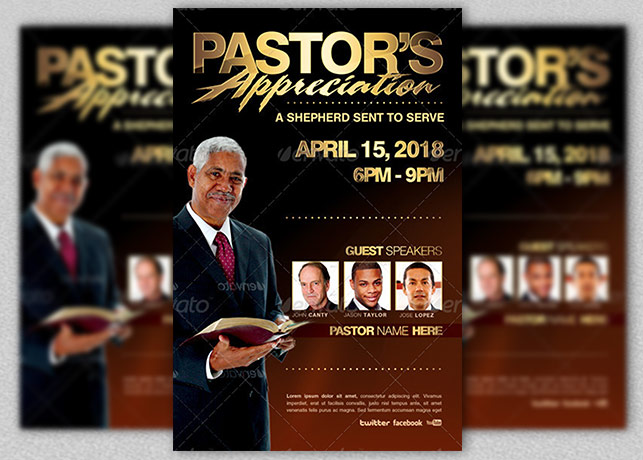 Pastors Appreciation Flyer Template Inspiks Market