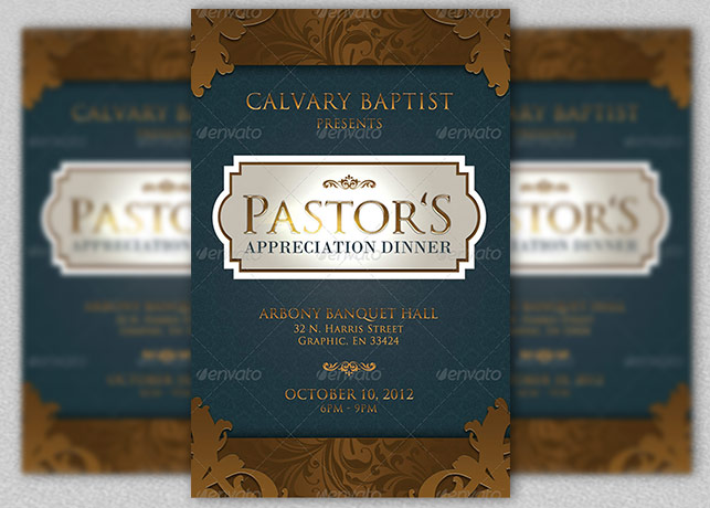 Pastor Appreciation Dinner Church Flyer And Cd  Inspiks Market