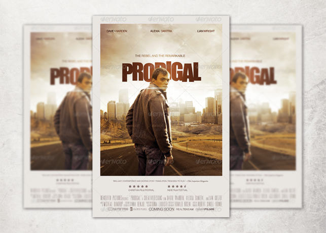 prodigal movie poster template inspiks market