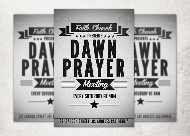 Retro Church Flyer Template | Inspiks Market