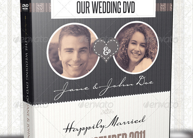 Vintage wedding dvd covers and disc label template inspiks market vintage wedding dvd covers and disc label template pronofoot35fo Choice Image