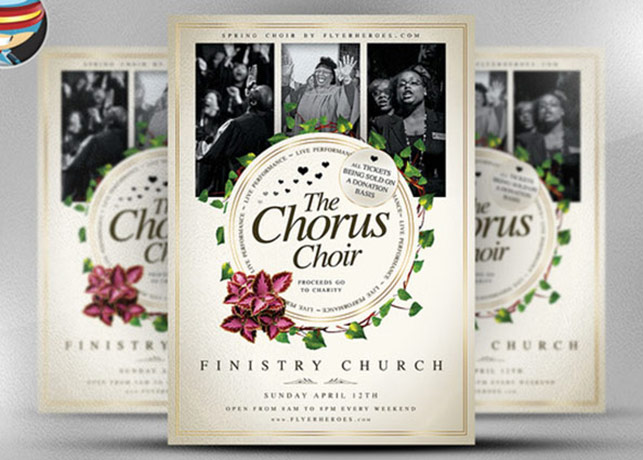 Chorus Choir Modern Church Flyer Template Inspiks Market