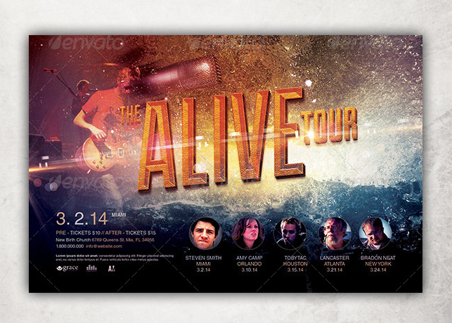 Alive Church Concert Flyer Template  Inspiks Market