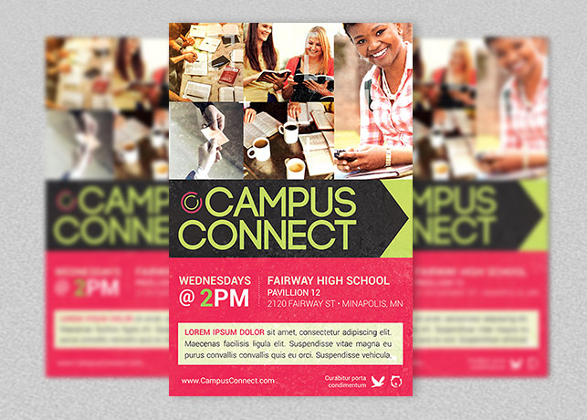Campus Connect Church Flyer Template Inspiks Market - High school brochure template