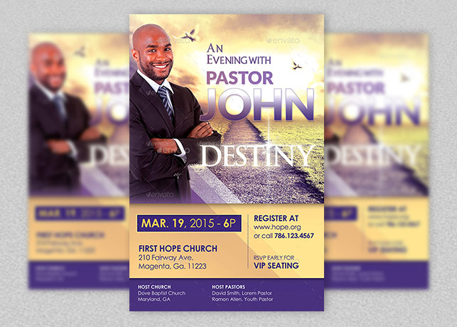 Church Conference Flyer Template – Seminar Flyer