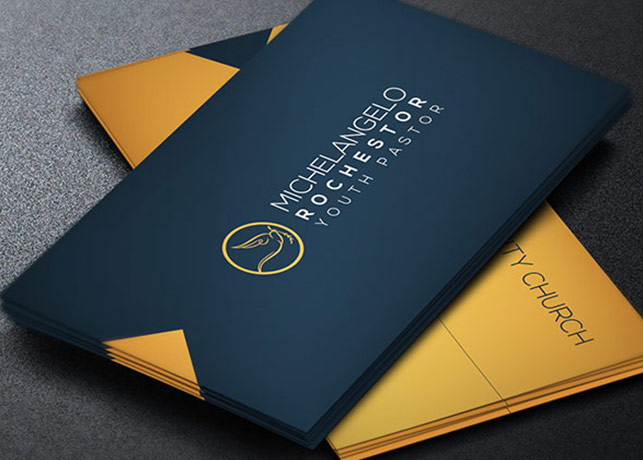 Modern Pastor Business Card Template Inspiks Market - Business card designs templates