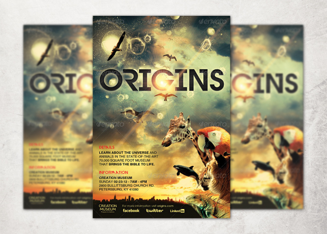 origins flyer ticket and cd template inspiks market