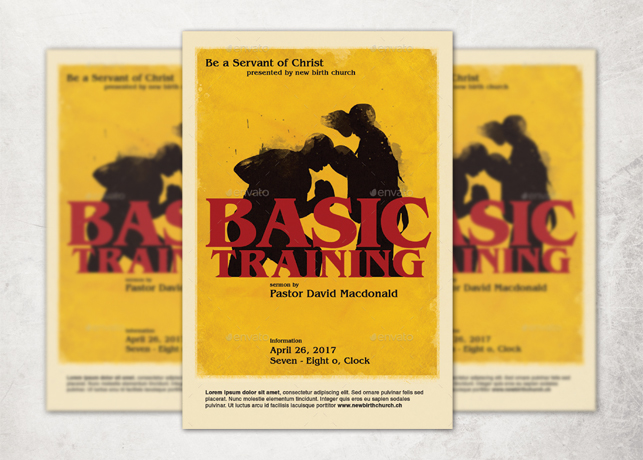 Basic Training Church Flyer Template Inspiks Market