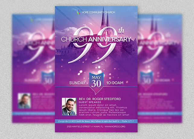 Church Celebration Flyer Template  Inspiks Market
