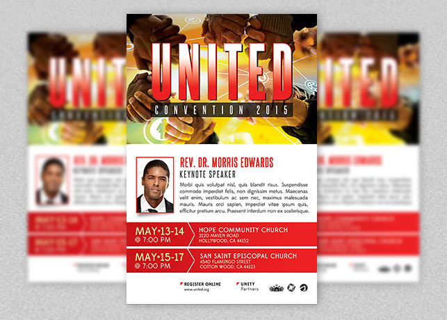 church convention flyer template